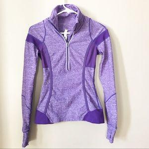 Lululemon Purple Pullover Running Jacket size 2